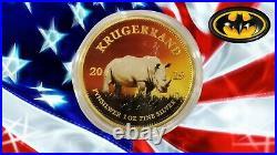 RHINO Krugerrand Big Five 1 Oz Silver Coin 1 Rand South Africa 2019