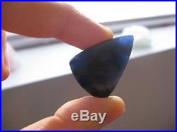 Rare! Stunning Gel Blue Richterite Minimalist Unisex Sterling Silver Pendant