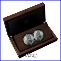 Rhino South Africa Big 5 Double Capsule 2020 2 X 5 Rand 1 Oz Proof Silver Coin
