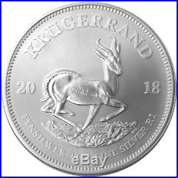 Roll of 10 2018 South Africa Silver Krugerrand 1oz PCGS BU FDOI Label