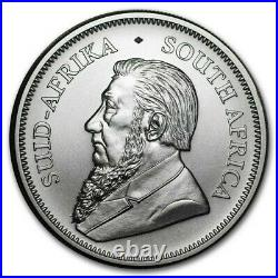 Roll of 25 2021 South Africa 1 oz 999 Fine Silver Krugerrand BU IN STOCK