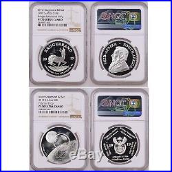 SET 2019 SOUTH AFRICA SILVER KRUGERRAND PROOF ngc PF70 spacecraft PRIVY & R2