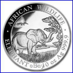 SOMALIE 1 000 Shillings Argent 10 Onces Elephant 2019