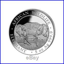 SOMALIE 500 Shillings Argent 5 Onces Elephant 2020