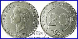 Sarawak, Charles J. Brooke, Rajah, 20 Cents Argent 1906, Rare