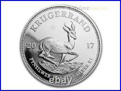 Silver Proof Krugerrand Krügerrand 1 oz Silber Südafrika South Africa PP 2017