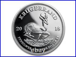Silver Proof Krugerrand Krügerrand 1 oz Silber Südafrika South Africa PP 2018