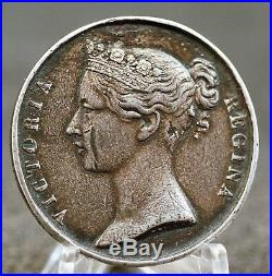 South Africa 1853 Silver Army Medal Queen Victoria Named. 36mm. 1347