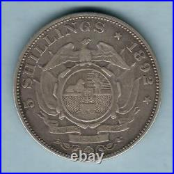 South Africa, 1892 Crown. Single Shaft on wagon. VF Trace Lustre