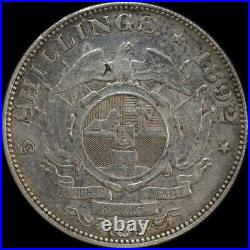 South Africa 1892 Silver 5 Shillings KM# 8.1 good VF