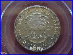 South Africa. 1923 Florin. In PCGS Slab PR62. Proof