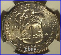 South Africa, 1948 George VI Two Shillings, NGC PR 67 2 Shillings. 1,120 Mintage
