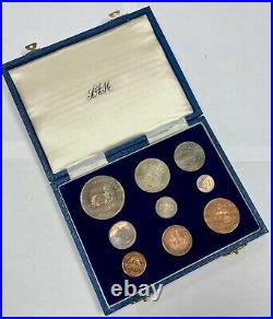 South Africa 1950 9 Coin Proof Set Original Box SA#5