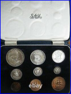 South Africa 1951 George VI short 9 coin set 1/4 Penny Crown 6 silver coins