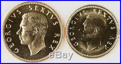 South Africa 1952 1 & 1/2 Pound Gold Silver Copper 11 Coin Proof Set GEM with BOX