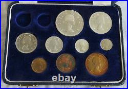 South Africa 1953 9 Coin Proof Year Set With Silver Sam Long Set Box