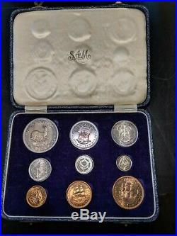 South Africa 1953 9-Coin Queen Elizabeth II Silver Proof Set PS27