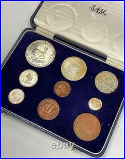 South Africa 1959 9 Coin Proof Set Original Box SA#22