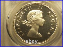 South Africa, 1959 Elizabeth II 5 Shillings. PCGS PR 66. 950 Mintage