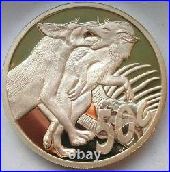 South Africa 2006 Black Backed Jackal 50 Cents 2.26oz Silver Coin, Proof