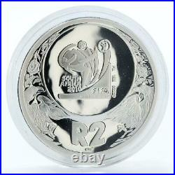 South Africa 2 rand 2010 FIFA World Cup football proof silver coin 2006