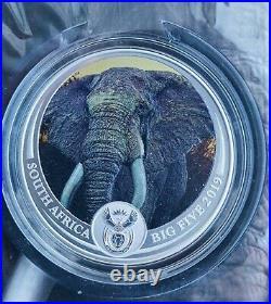 South Africa 5 Rand 2019 Elephant The Big Five Coloured extra rare