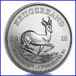 South Africa Krugerrand 2018 1 OZ (31,15 gr.) Argento 999 Silver Coin
