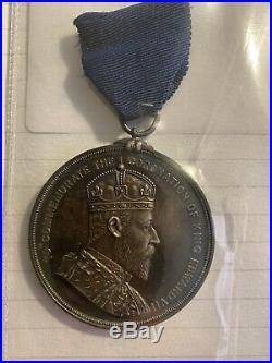 South Africa Natal Edward VII Coronation 1902 medal 51mm RARE Medal
