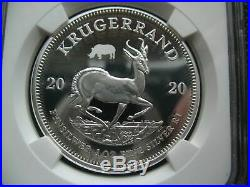 South Africa R1 2020 Silver Coin Krugerrand Rhino Privy NGC PF68UC FirstReleases
