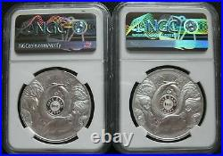South Africa R5 2021 Silver Proof 1Oz Two Coin Big5 Series Buffalo NGC PF70 FR