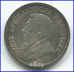 South Africa Zar 5 Shillings 1892 Single Shaft Au