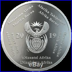 Südafrika 50 Jahre Mondlandung Prestige-Satz Silber PP 2019