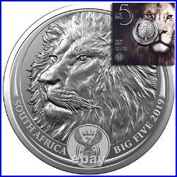 Südafrika 5 Rand 2019 Big Five Serie (2.) Löwe 1 Oz Silber ST