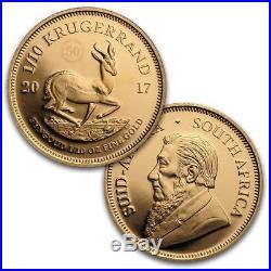 Südafrika Prestige-Satz 50 Jahre Krügerrand 2017 1,92 Oz. Gold PP 6 Werte