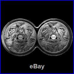 Südafrika Satz 2019 Big Five Löwe Doppelkapsel 2 x 1 Oz Silber PP