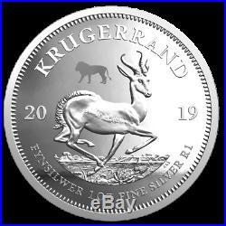 Südafrika Satz Big Five Löwe + Krügerrand Privy 2 x 1 Oz. Silber PP in Holzbox