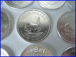 TEN Krugerrand Silver bullion coins 10 x 1oz 999 Silver bullion, 2019
