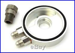 TTR400 Aluminum Oil Cooler Sandwich Plate Adaptor CB350F CB400F Silver