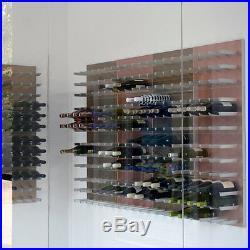 Vinowall Wall Mounted Wine Rack 12 Bottle (Brushed Aluminium Finish)