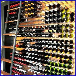 Vinowall Wall Mounted Wine Rack 12 Bottle (Brushed Copper Finish)