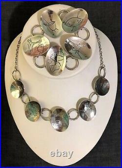 Vintage Modernist Haglund Sterling Silver Oval Panel Bracelet South Africa