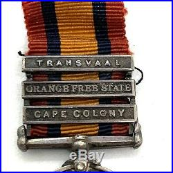 WW1 British Set Of 2 Sterling Silver Mini Medals. South Africa
